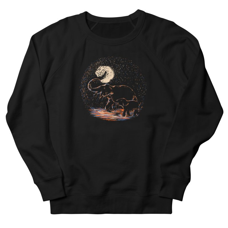MIDNIGHT FUN Men's French Terry Sweatshirt by Winterglaze's Artist Shop