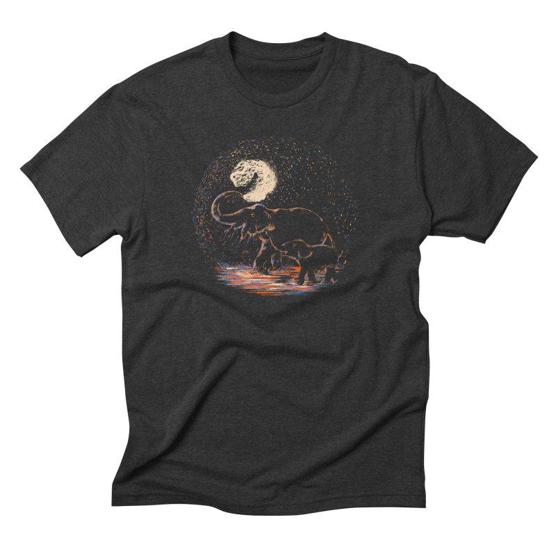 MIDNIGHT FUN Men's Triblend T-Shirt by Winterglaze's Artist Shop