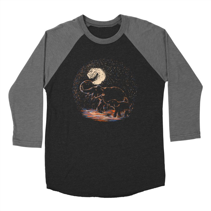 MIDNIGHT FUN Men's Baseball Triblend Longsleeve T-Shirt by Winterglaze's Artist Shop