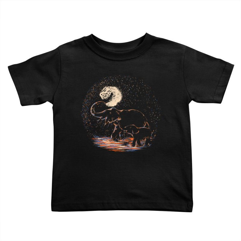 MIDNIGHT FUN Kids Toddler T-Shirt by Winterglaze's Artist Shop