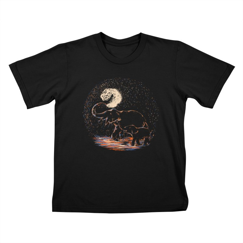 MIDNIGHT FUN Kids T-Shirt by Winterglaze's Artist Shop