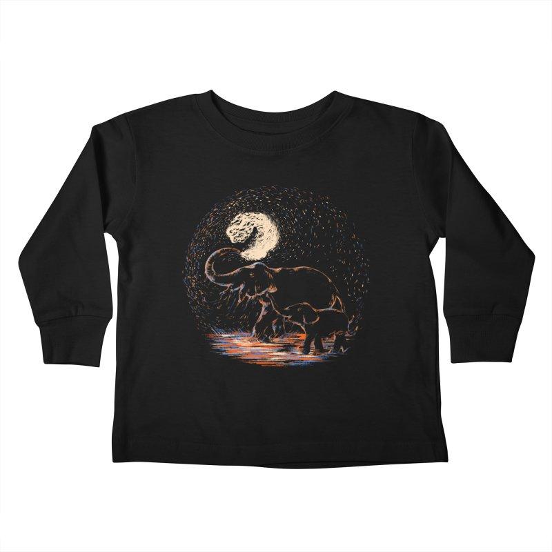 MIDNIGHT FUN Kids Toddler Longsleeve T-Shirt by Winterglaze's Artist Shop