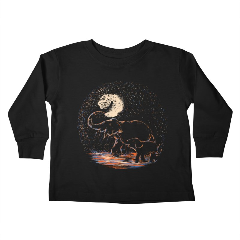 MIDNIGHT FUN Kids Toddler Longsleeve T-Shirt by Winterglaze's Artist Shop