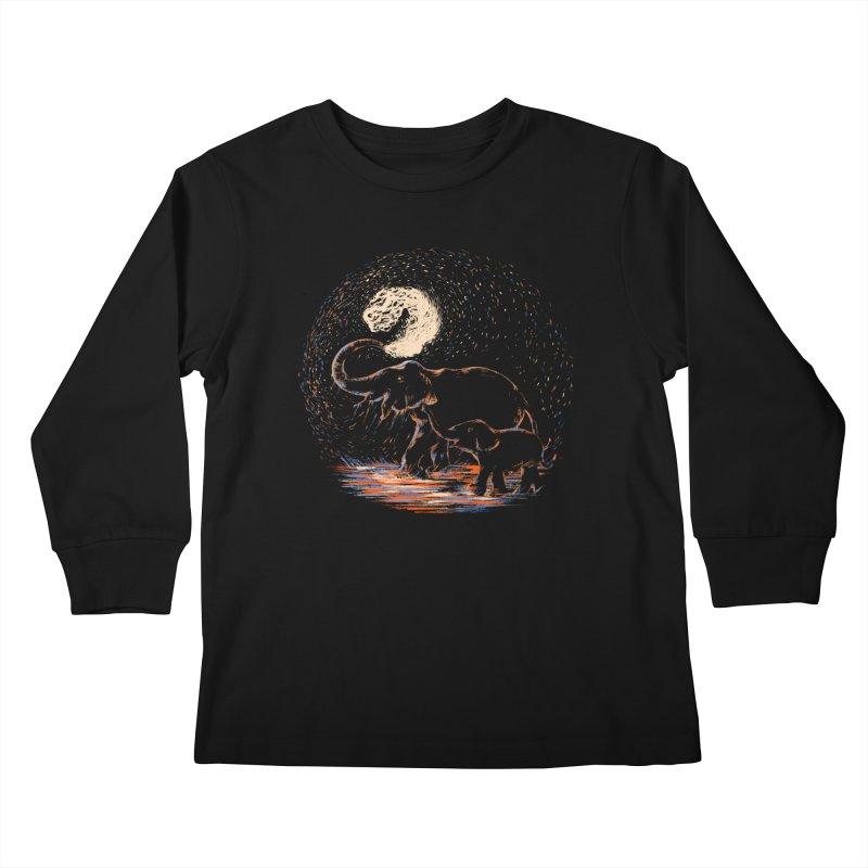 MIDNIGHT FUN Kids Longsleeve T-Shirt by Winterglaze's Artist Shop