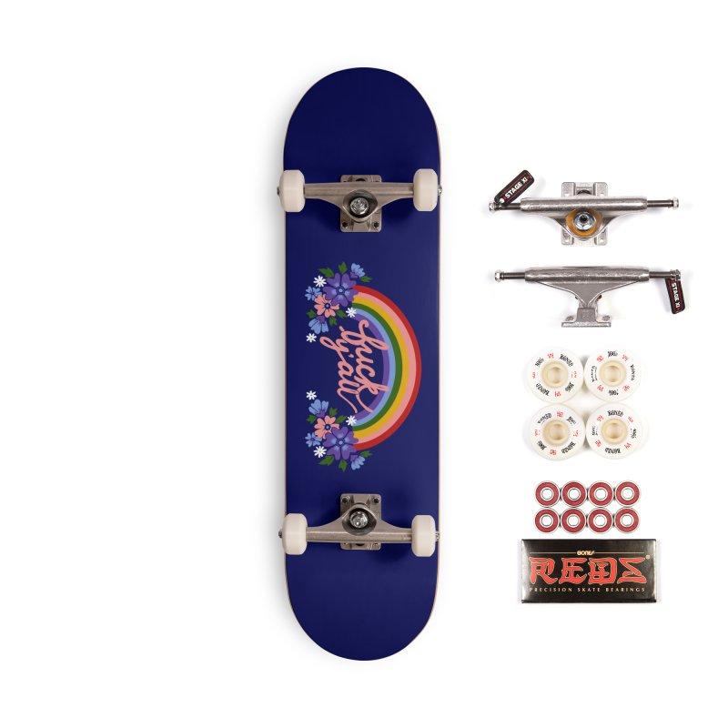 FUCK Y'ALL Accessories Complete - Pro Skateboard by Winterglaze's Artist Shop