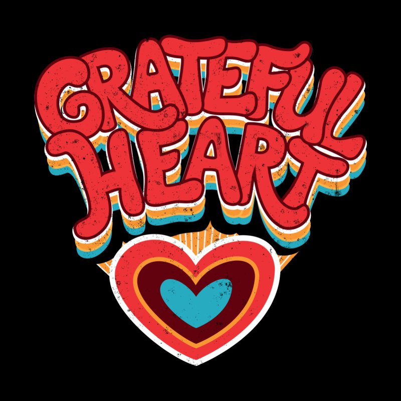 GRATEFUL HEART Kids T-Shirt by Winterglaze's Artist Shop