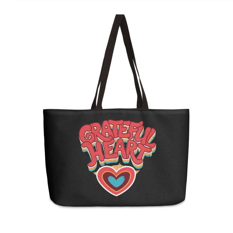 GRATEFUL HEART Accessories Bag by Winterglaze's Artist Shop