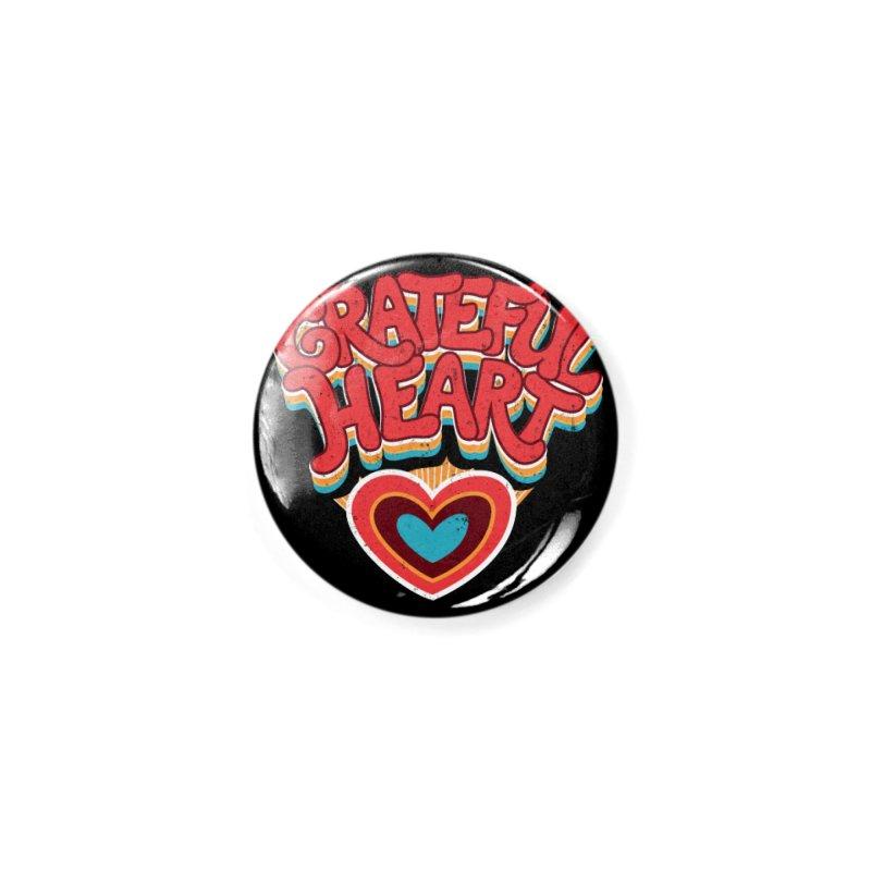 GRATEFUL HEART Accessories Button by Winterglaze's Artist Shop