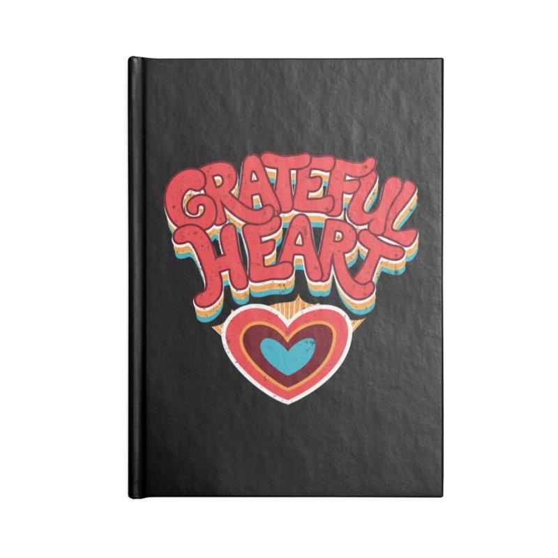 GRATEFUL HEART Accessories Lined Journal Notebook by Winterglaze's Artist Shop