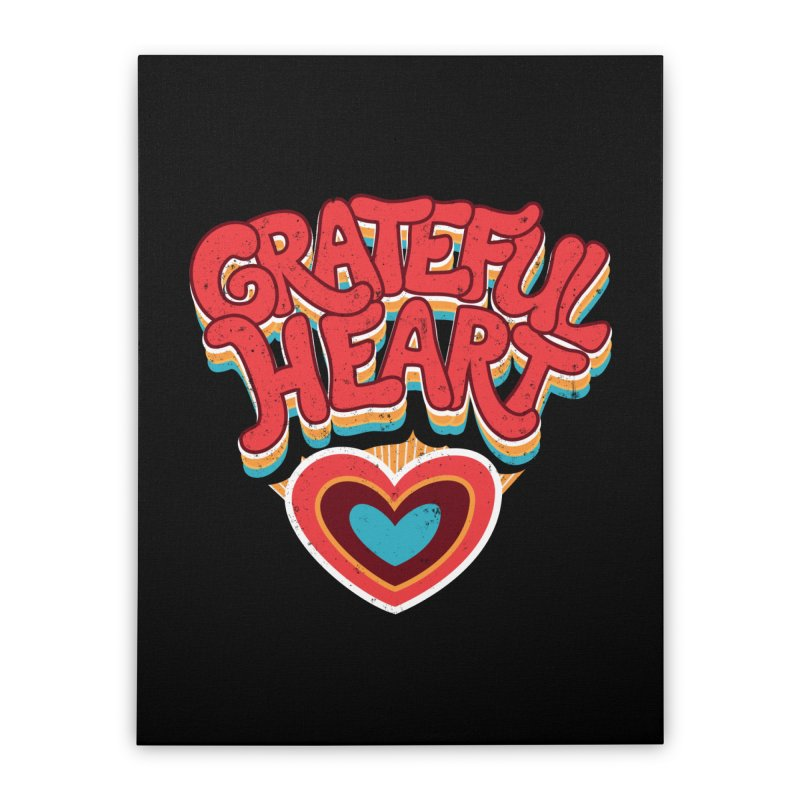 GRATEFUL HEART Home Stretched Canvas by Winterglaze's Artist Shop