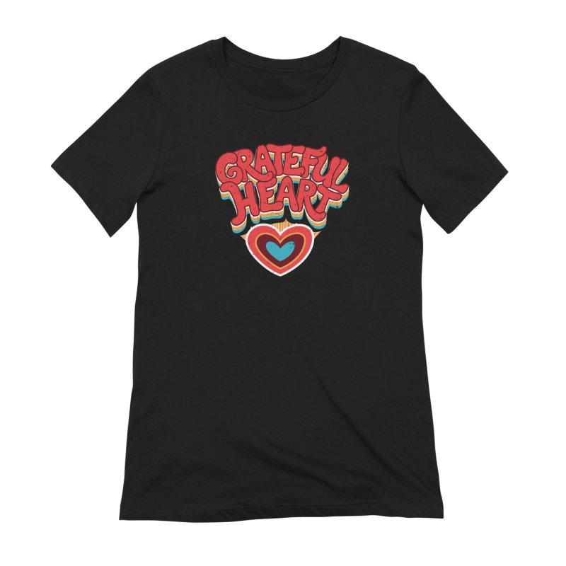 GRATEFUL HEART Women's Extra Soft T-Shirt by Winterglaze's Artist Shop