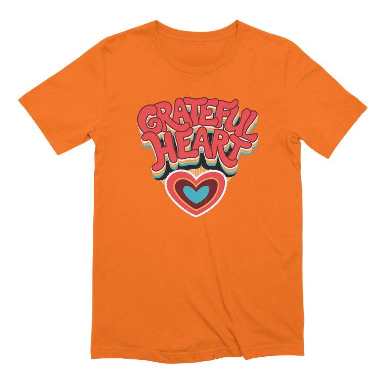 GRATEFUL HEART Men's Extra Soft T-Shirt by Winterglaze's Artist Shop