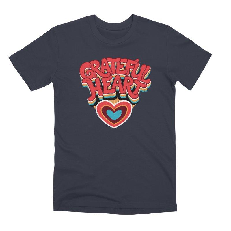 GRATEFUL HEART Men's Premium T-Shirt by Winterglaze's Artist Shop