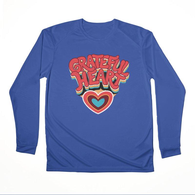 GRATEFUL HEART Women's Performance Unisex Longsleeve T-Shirt by Winterglaze's Artist Shop
