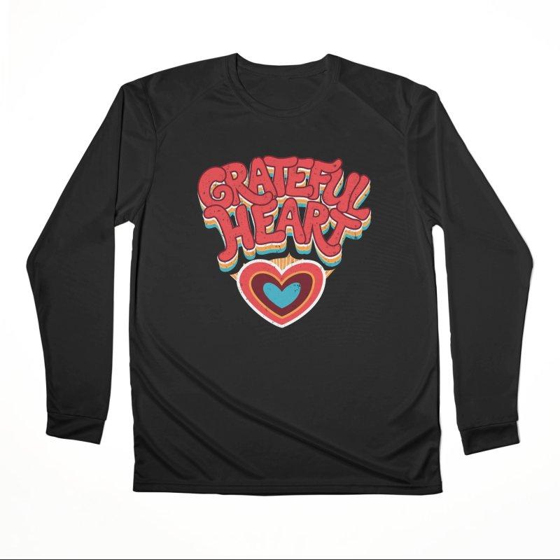 GRATEFUL HEART Men's Performance Longsleeve T-Shirt by Winterglaze's Artist Shop