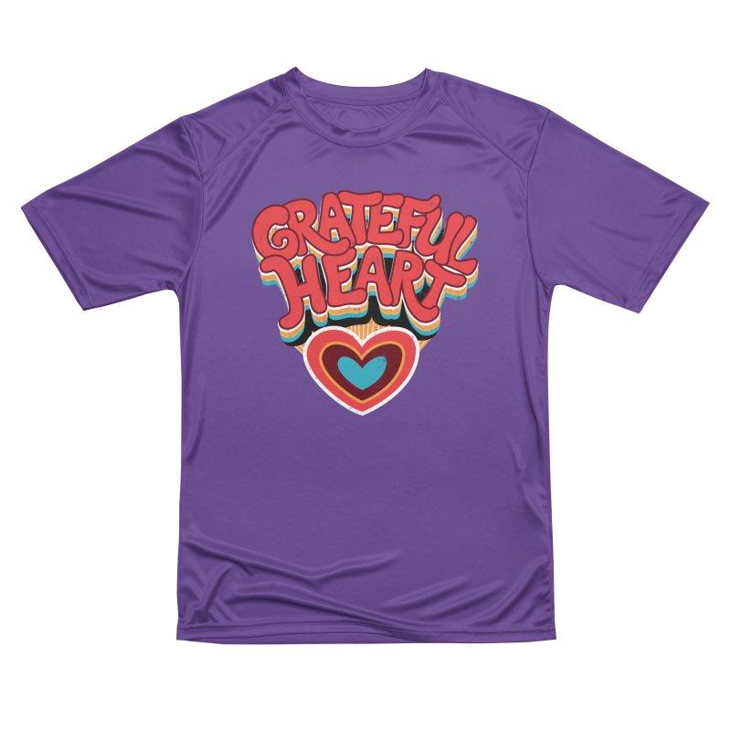 GRATEFUL HEART Men's Performance T-Shirt by Winterglaze's Artist Shop