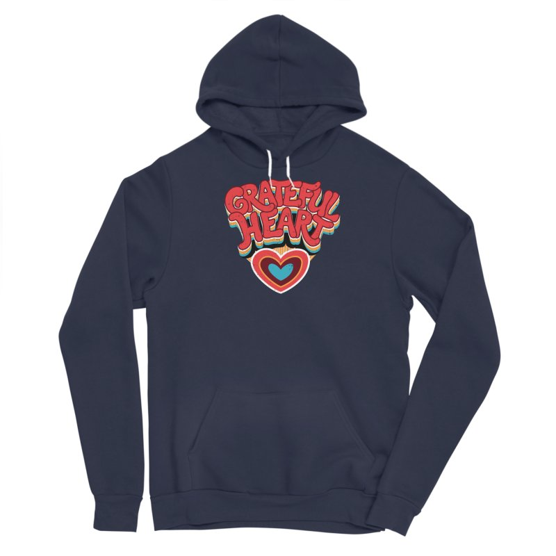 GRATEFUL HEART Women's Sponge Fleece Pullover Hoody by Winterglaze's Artist Shop