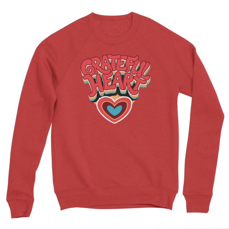 GRATEFUL HEART Women's Sponge Fleece Sweatshirt by Winterglaze's Artist Shop