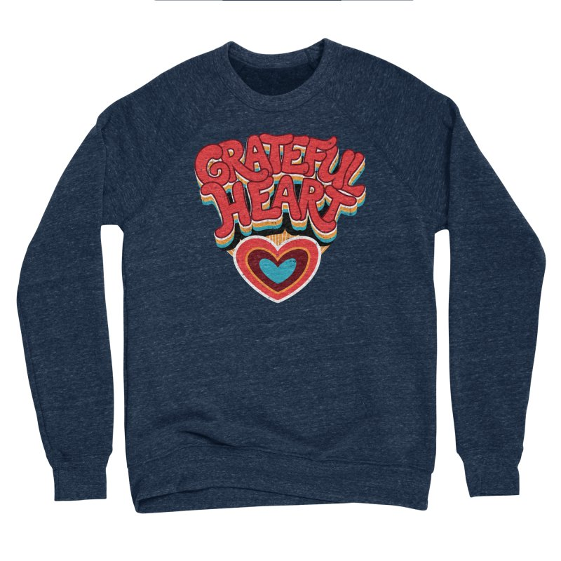 GRATEFUL HEART Men's Sponge Fleece Sweatshirt by Winterglaze's Artist Shop