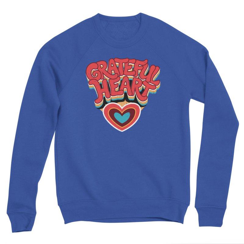 GRATEFUL HEART Men's Sponge Fleece Sweatshirt by Winterglaze's Artist Shop