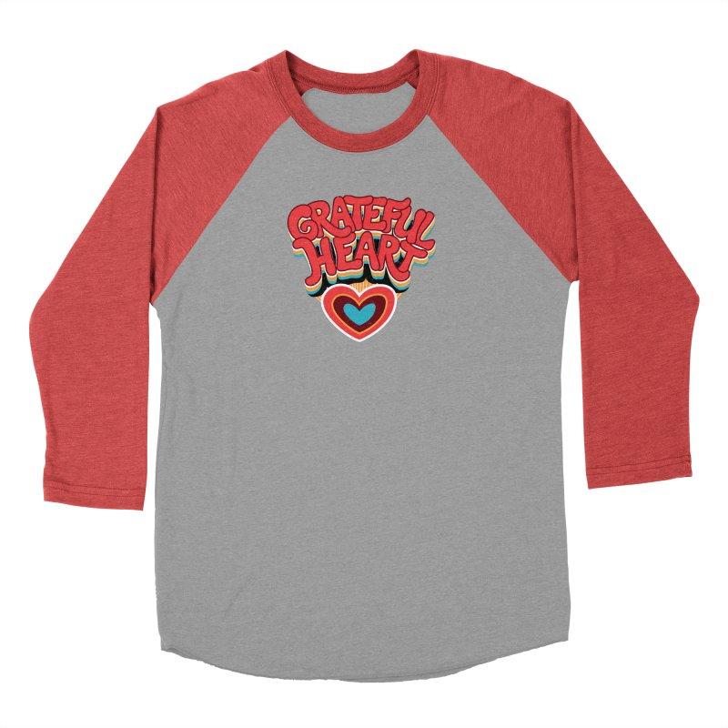 GRATEFUL HEART Women's Baseball Triblend Longsleeve T-Shirt by Winterglaze's Artist Shop