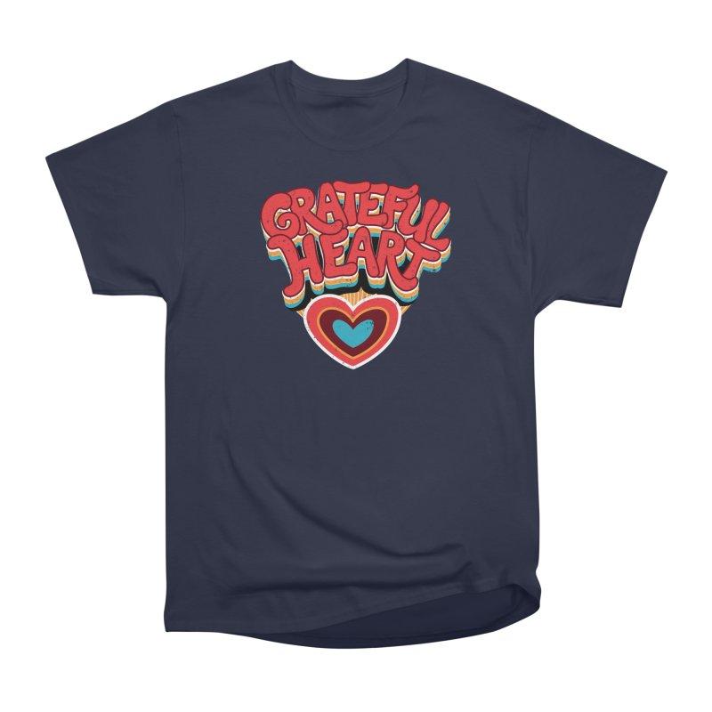GRATEFUL HEART Men's Heavyweight T-Shirt by Winterglaze's Artist Shop