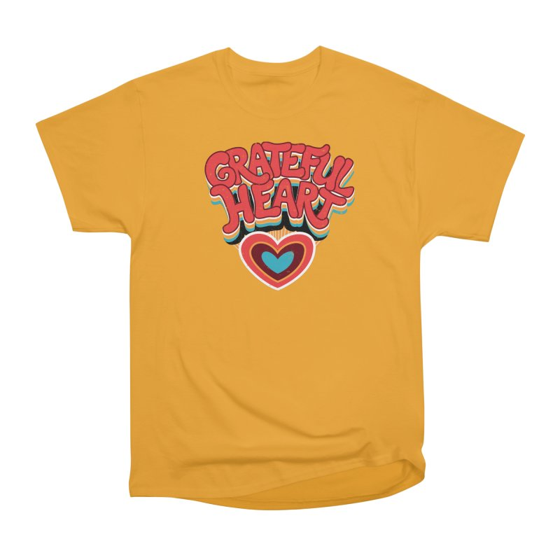 GRATEFUL HEART Men's Heavyweight T-Shirt by Winterglaze's Artist Shop