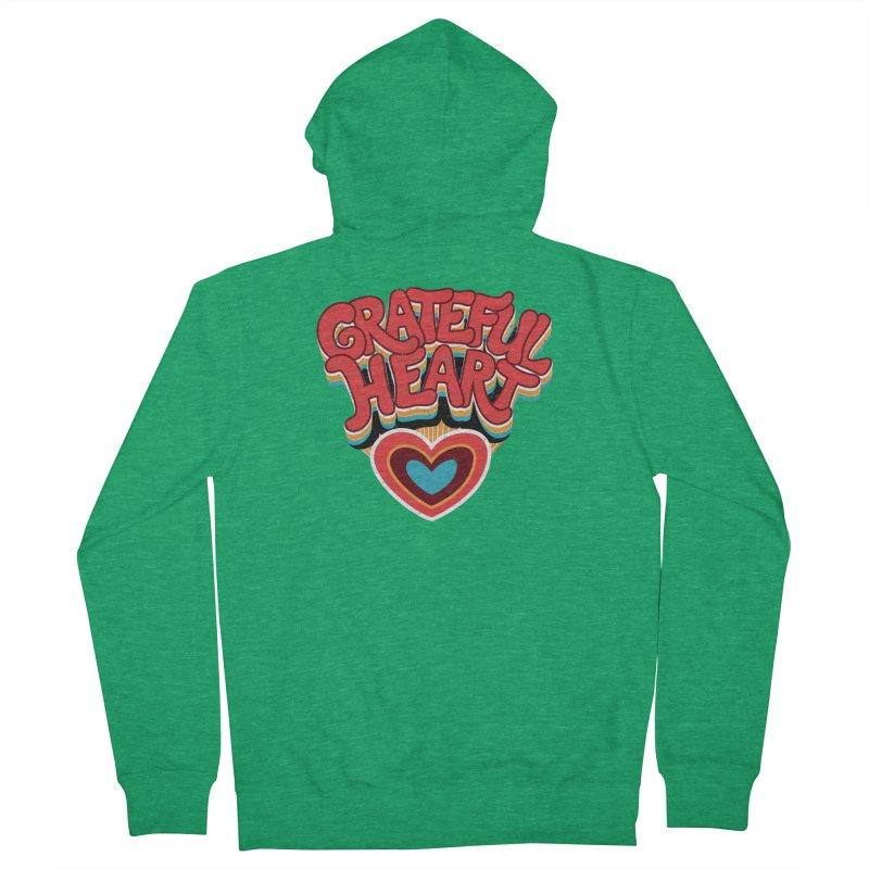 GRATEFUL HEART Women's Zip-Up Hoody by Winterglaze's Artist Shop
