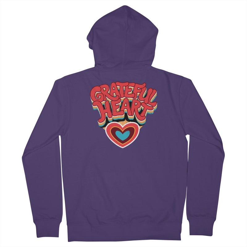 GRATEFUL HEART Women's French Terry Zip-Up Hoody by Winterglaze's Artist Shop