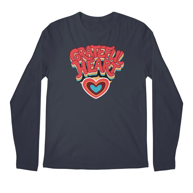 GRATEFUL HEART Men's Regular Longsleeve T-Shirt by Winterglaze's Artist Shop