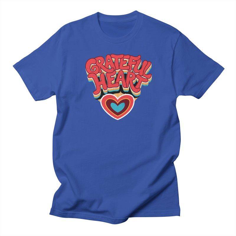 GRATEFUL HEART Women's Regular Unisex T-Shirt by Winterglaze's Artist Shop