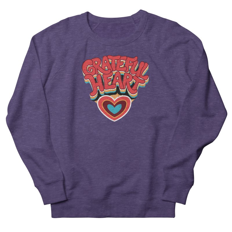GRATEFUL HEART Women's French Terry Sweatshirt by Winterglaze's Artist Shop