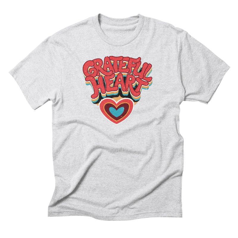 GRATEFUL HEART Men's Triblend T-Shirt by Winterglaze's Artist Shop
