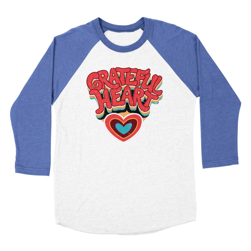 GRATEFUL HEART Women's Baseball Triblend Longsleeve T-Shirt by Winterglaze's Artist Shop