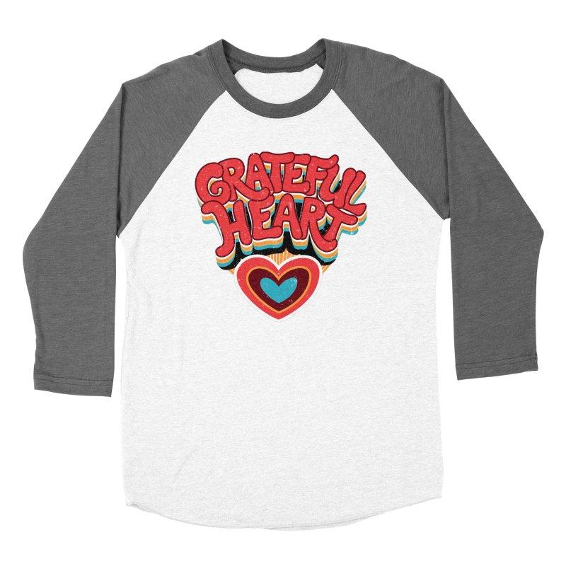 GRATEFUL HEART Women's Longsleeve T-Shirt by Winterglaze's Artist Shop