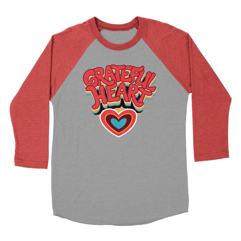 GRATEFUL HEART Men's Baseball Triblend Longsleeve T-Shirt by Winterglaze's Artist Shop