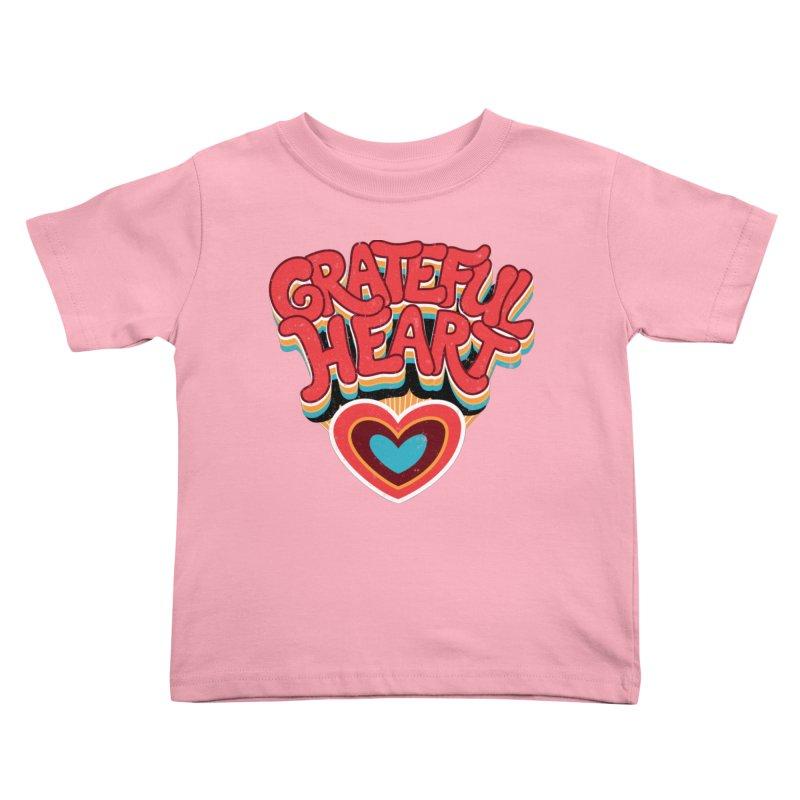 GRATEFUL HEART Kids Toddler T-Shirt by Winterglaze's Artist Shop