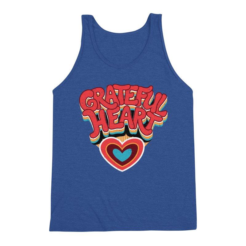 GRATEFUL HEART Men's Tank by Winterglaze's Artist Shop