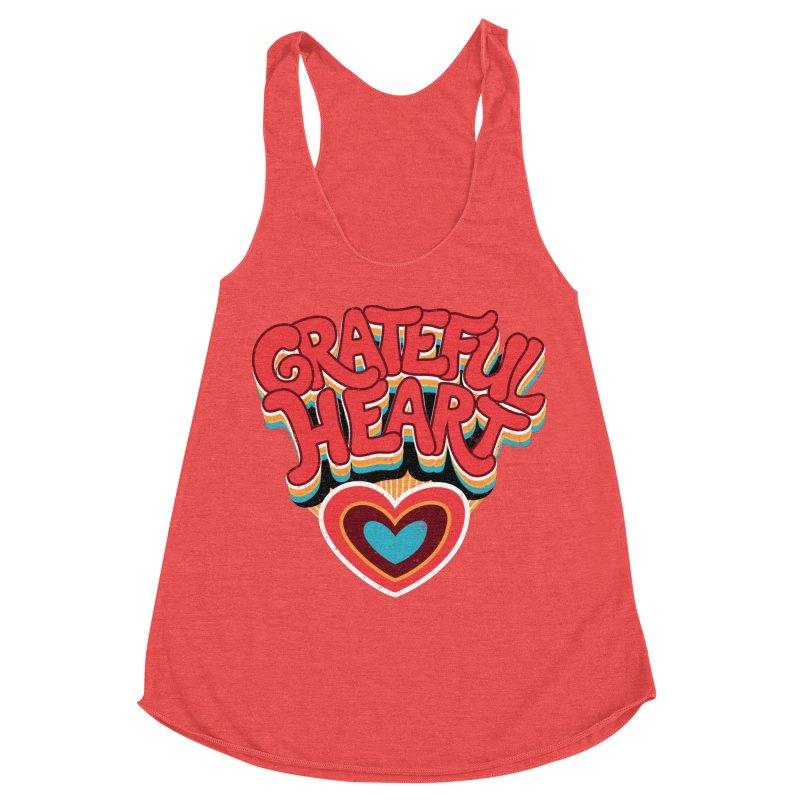 GRATEFUL HEART Women's Tank by Winterglaze's Artist Shop