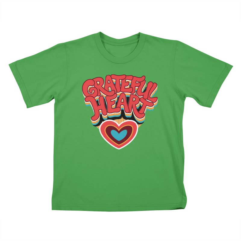 GRATEFUL HEART Kids T-Shirt by Winterglaze's Artist Shop