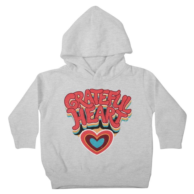 GRATEFUL HEART Kids Toddler Pullover Hoody by Winterglaze's Artist Shop