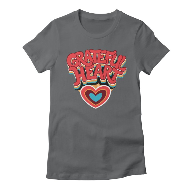 GRATEFUL HEART Women's Fitted T-Shirt by Winterglaze's Artist Shop