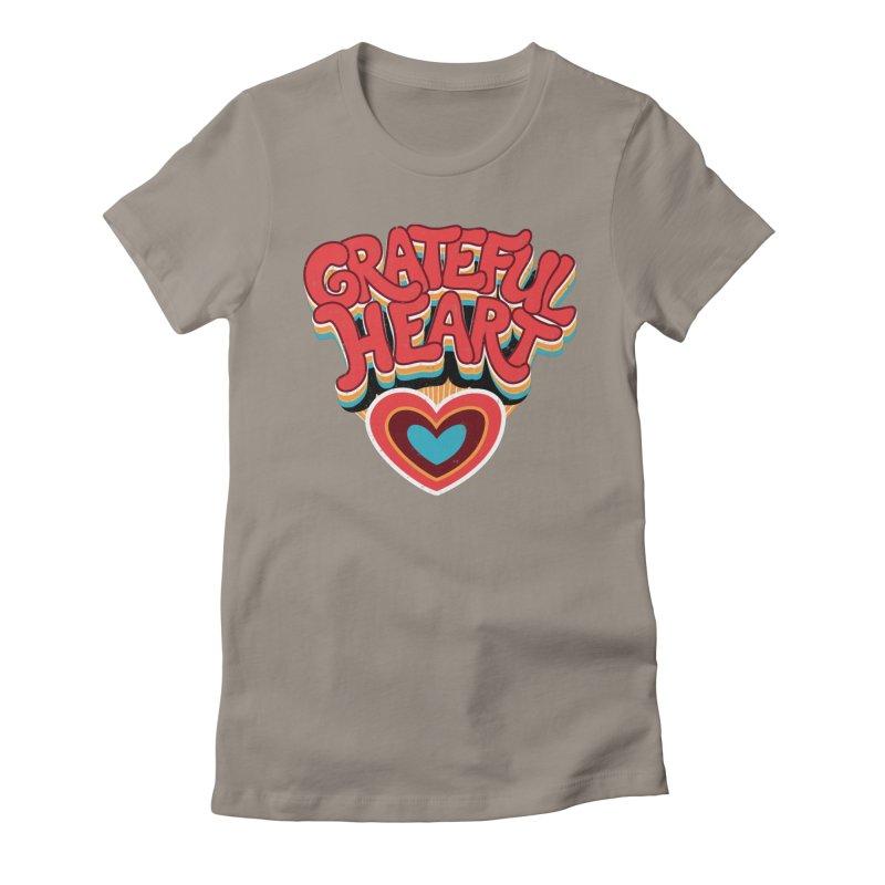 GRATEFUL HEART Women's Fitted T-Shirt by Winterglaze's Artist Shop