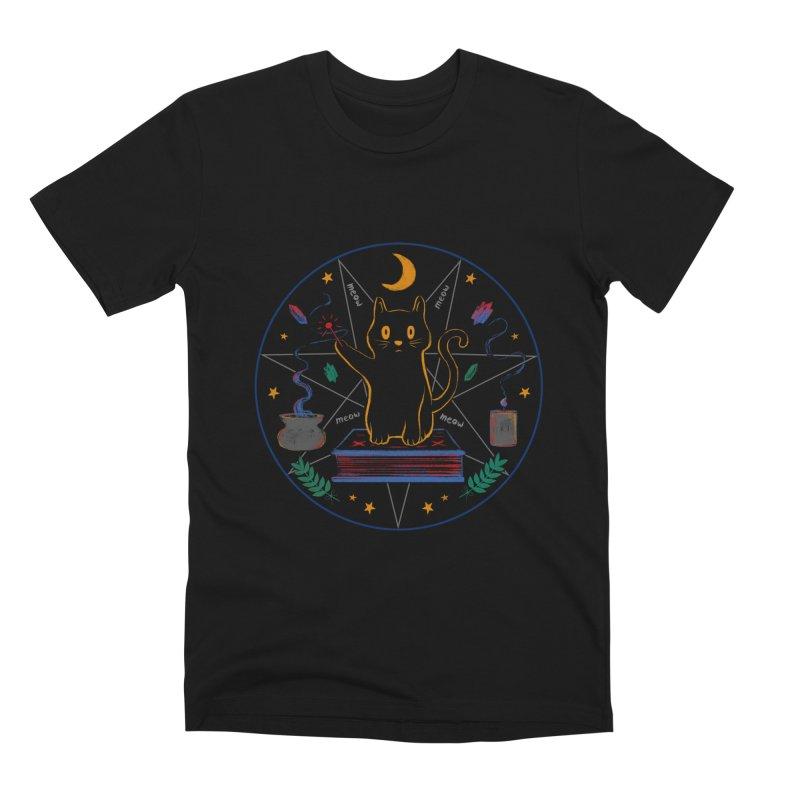 MEOW-GIC! Men's T-Shirt by Winterglaze's Artist Shop