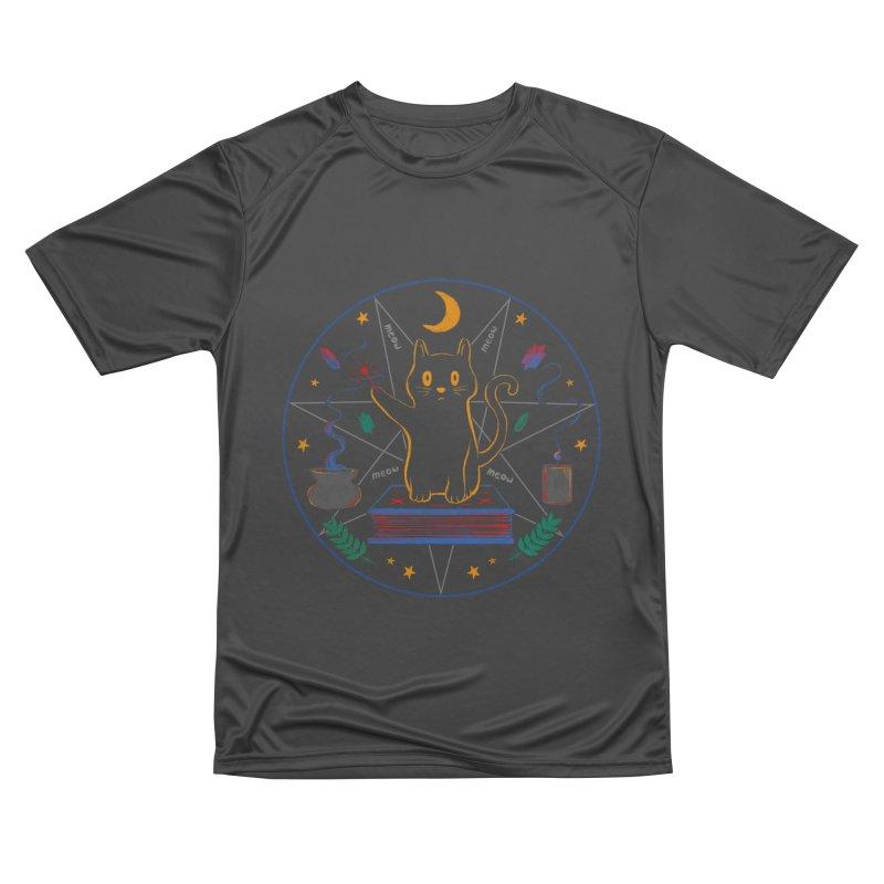 MEOW-GIC! Women's Performance Unisex T-Shirt by Winterglaze's Artist Shop