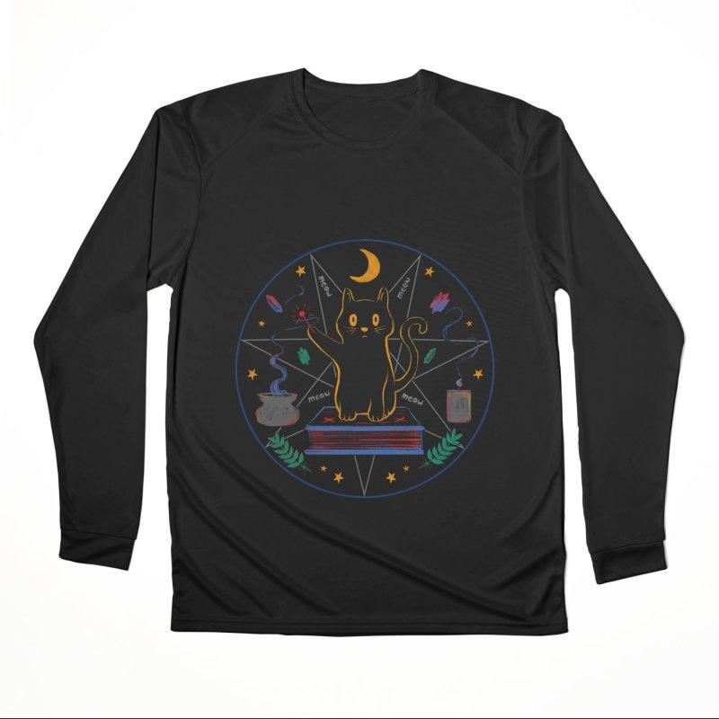 MEOW-GIC! Men's Performance Longsleeve T-Shirt by Winterglaze's Artist Shop