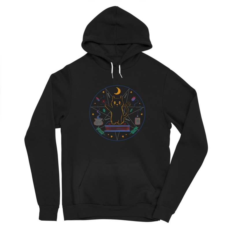 MEOW-GIC! Women's Sponge Fleece Pullover Hoody by Winterglaze's Artist Shop
