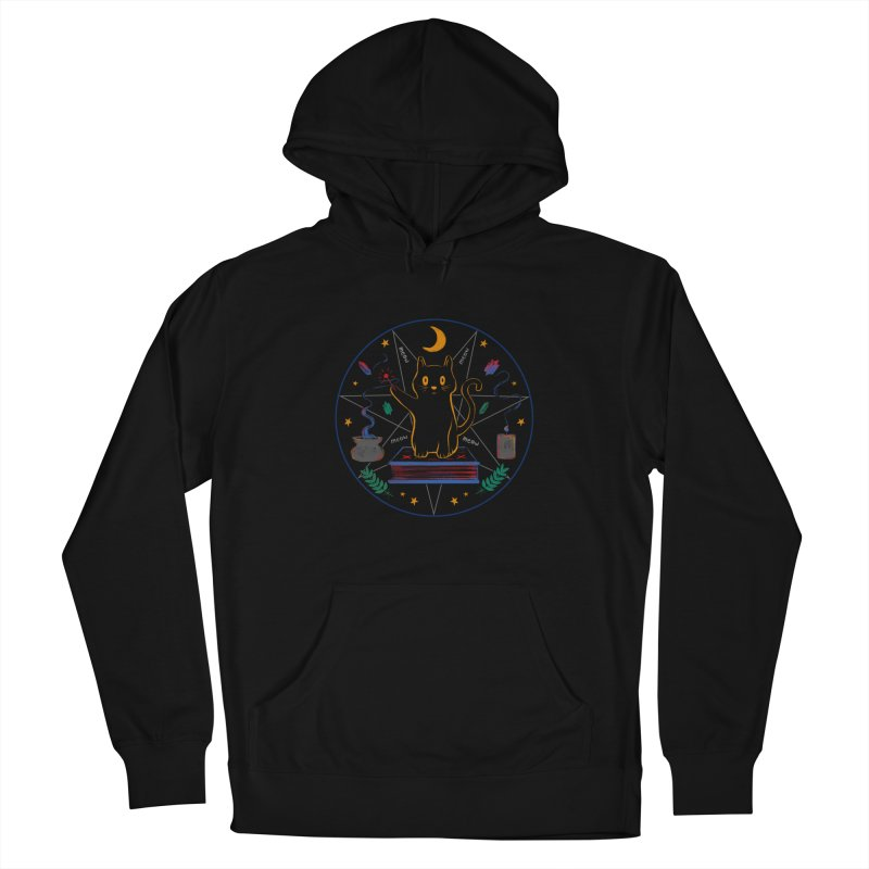 MEOW-GIC! Men's French Terry Pullover Hoody by Winterglaze's Artist Shop