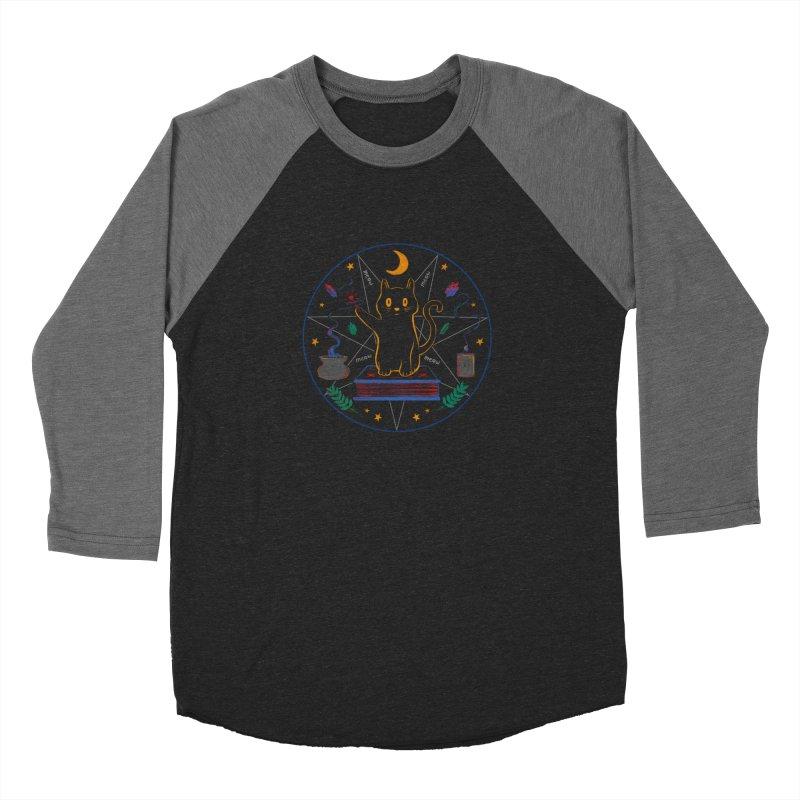 MEOW-GIC! Women's Baseball Triblend Longsleeve T-Shirt by Winterglaze's Artist Shop