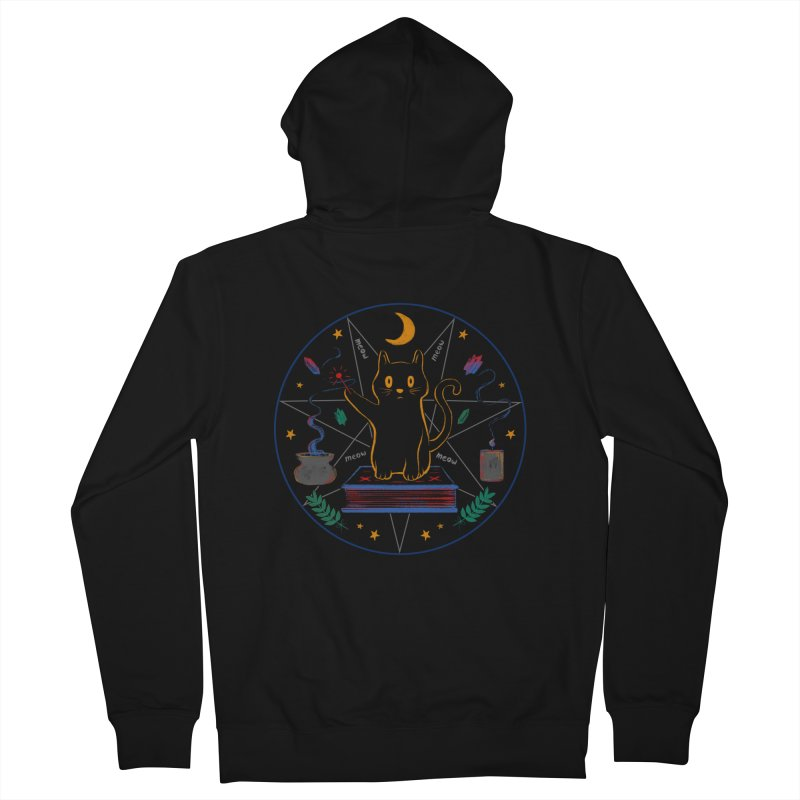 MEOW-GIC! Men's French Terry Zip-Up Hoody by Winterglaze's Artist Shop